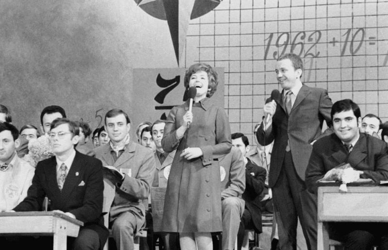 Александр Масляков и Светлана Жильцова ведущие КВН в 1961