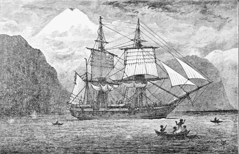 Корабль «Бигль» на котором путешествовал Дарвин