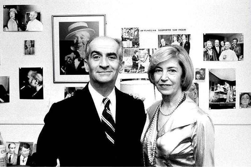 Луи де Фюнес с второй женой Жанной де Фюнес