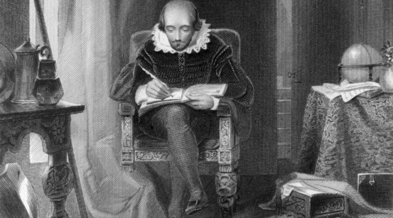 Портрет Уильяма Шекспира в процессе творчества