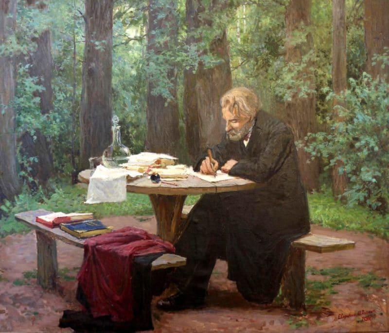 Иван Тургенев в творческом процессе