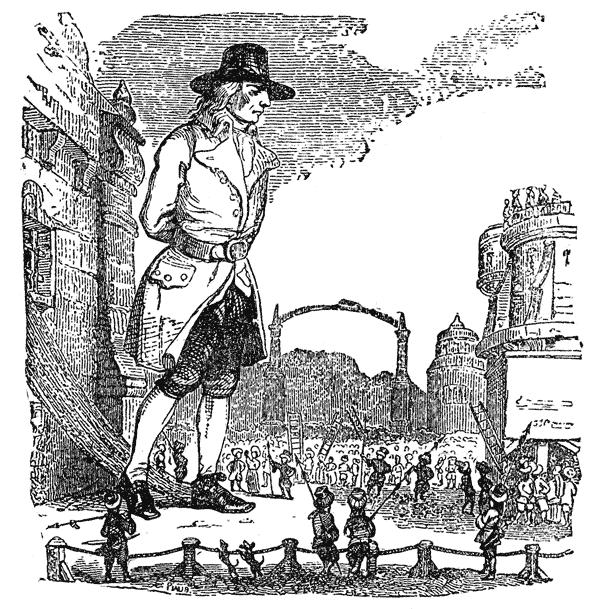Иллюстрация к сказке Джонатана Свифта «Путешествие Гулливера»