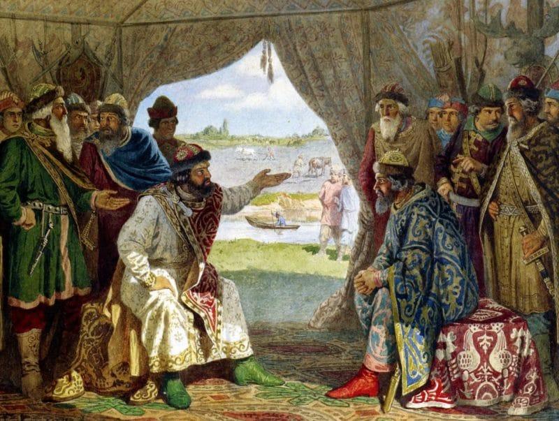 Владимир Мономах на съезде князей