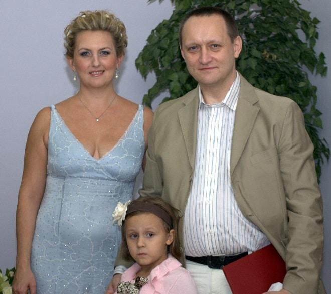 Стас Михайлов с Натальей Зотовой и дочкой