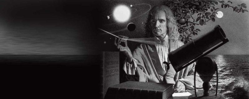Исаак Ньютон изучает астрономию