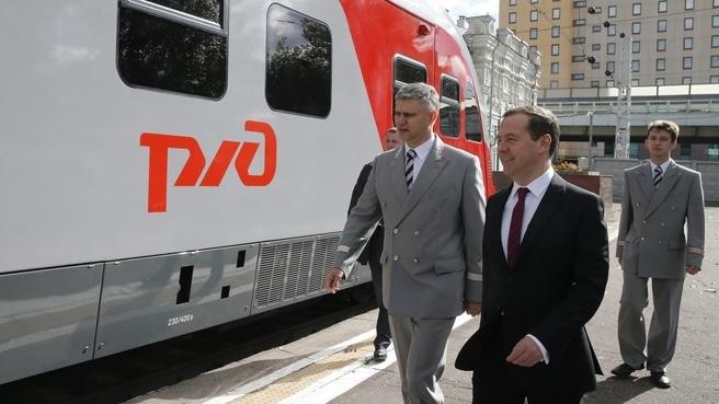 Олег Белозеров с Дмитрием Медведевым