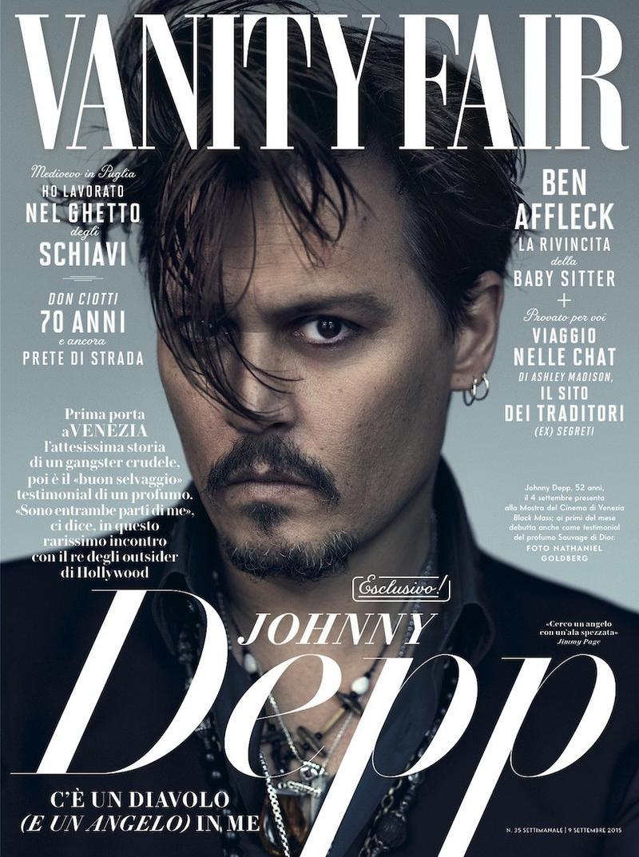 Джонни Депп на обложке журнала