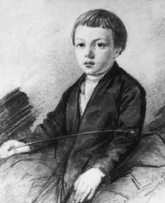 Портрет Афанасия Фета в детстве