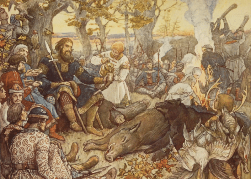 Владимир Мономах после охоты