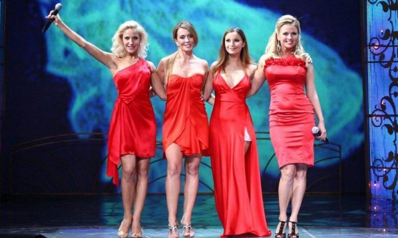 Жанна Фриске с группой «Блестящие»