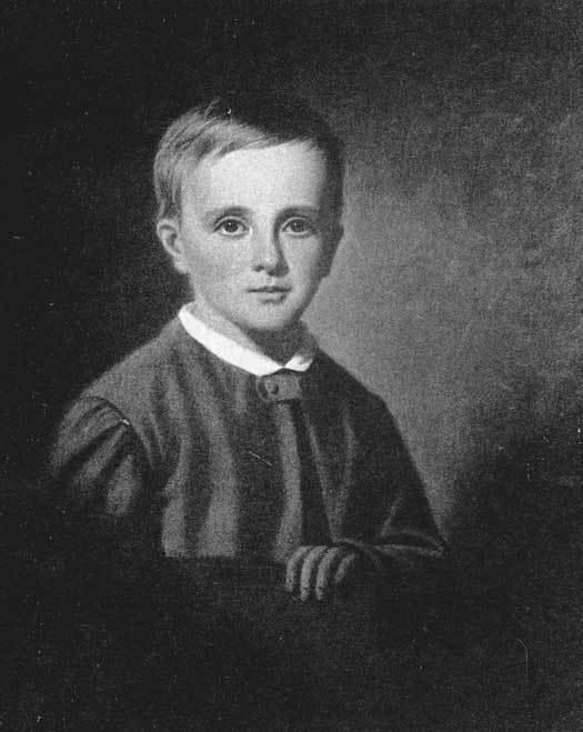Портрет Исаака Ньютона в детстве