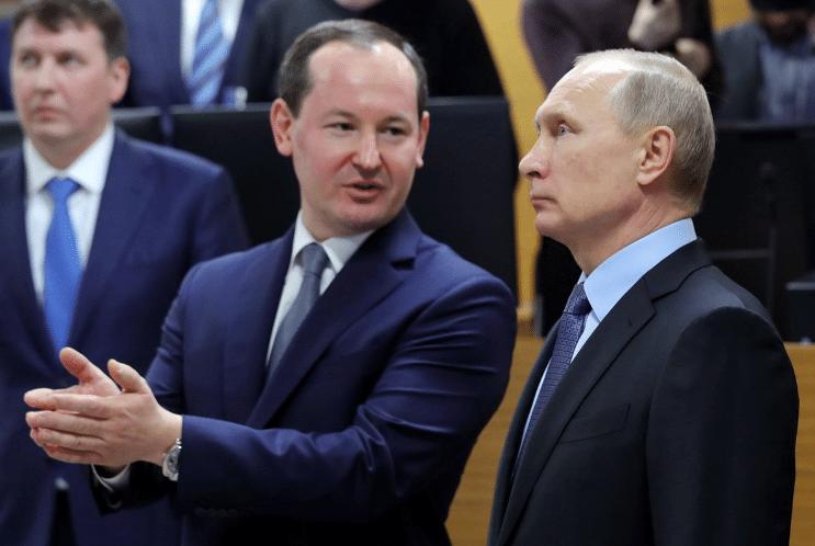 Павел Ливинский и Владимир Путин