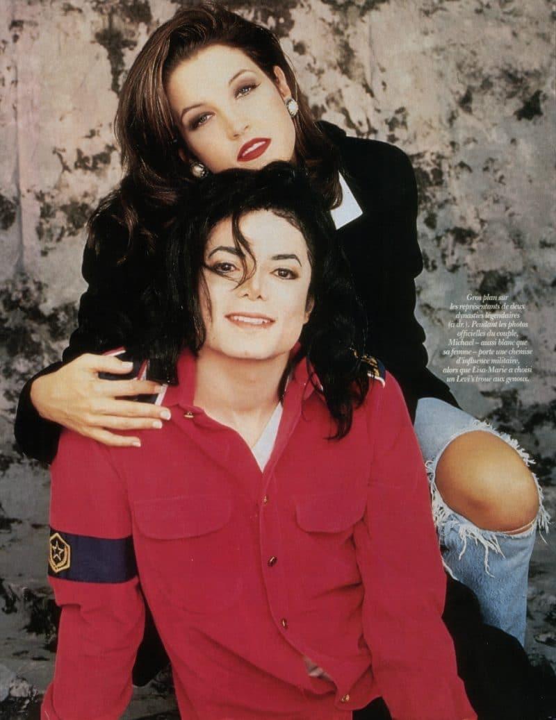 Майкл Джексон с Лизой-Марии Пресли