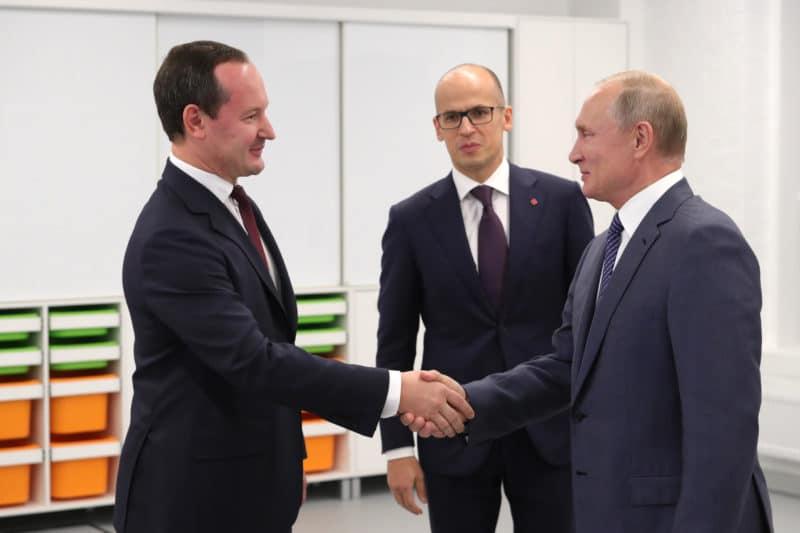Павел Ливинский с Путиным