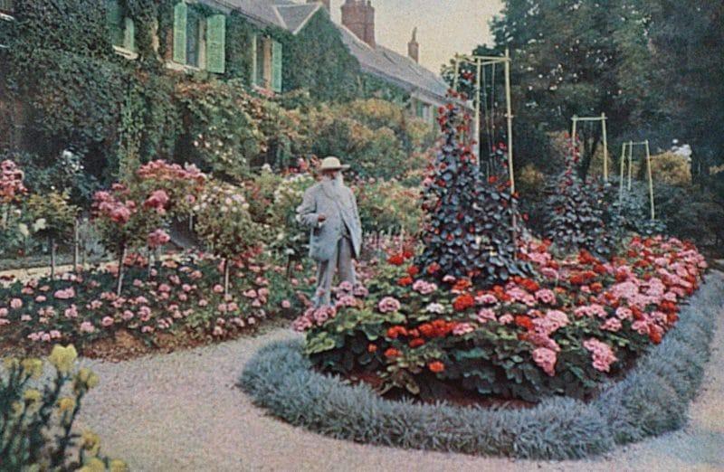 Клод Моне в своем саду