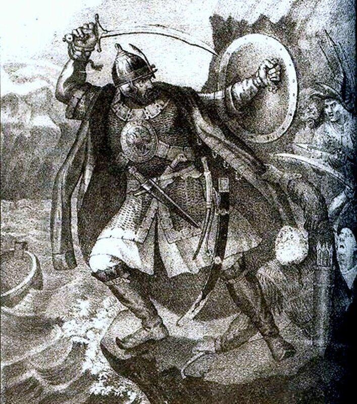 Иллюстрация гибели Ермака