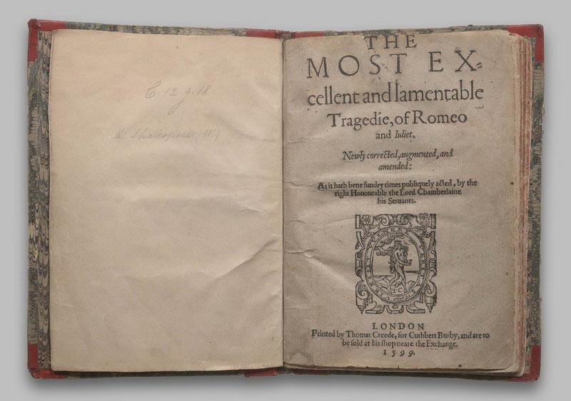 Первое издание «Ромео и Джульетта»
