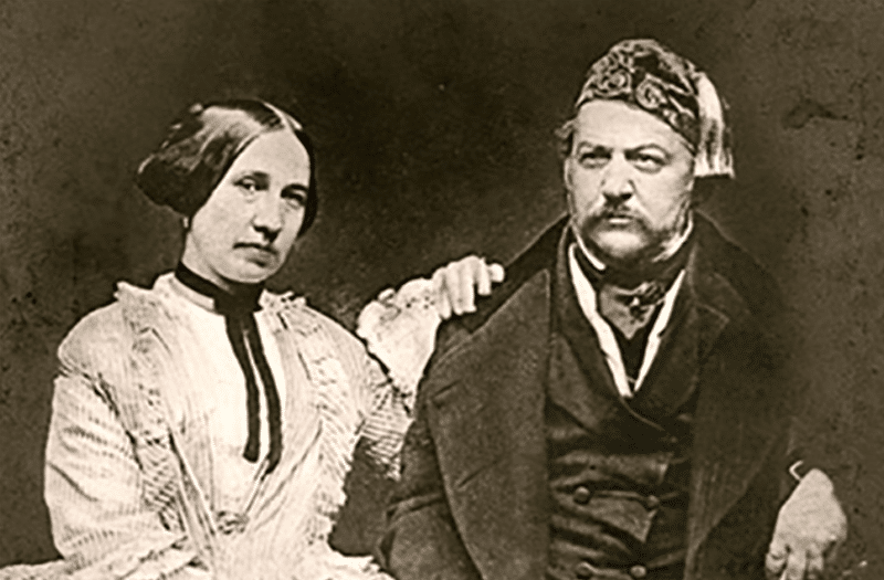 Михаил Глинка с женой