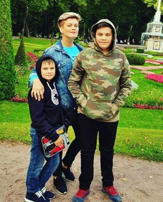 Сабина Пантус с сыновьями
