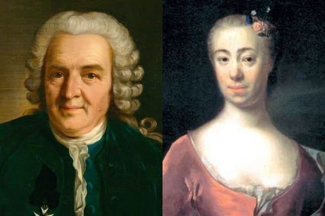 Карл Линней и его жена Сара
