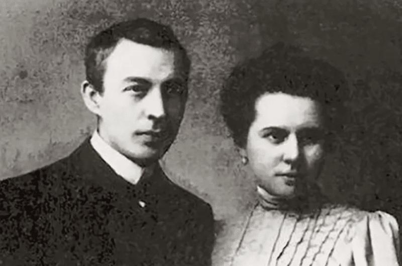 Сергей Рахманинов с Натальей Сатиной