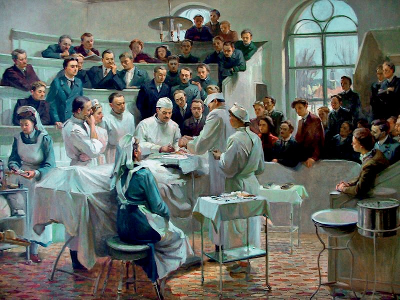 Николай Пирогов обучает хирургов