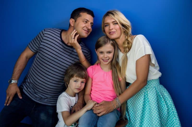 Владимир Зеленский с семьей