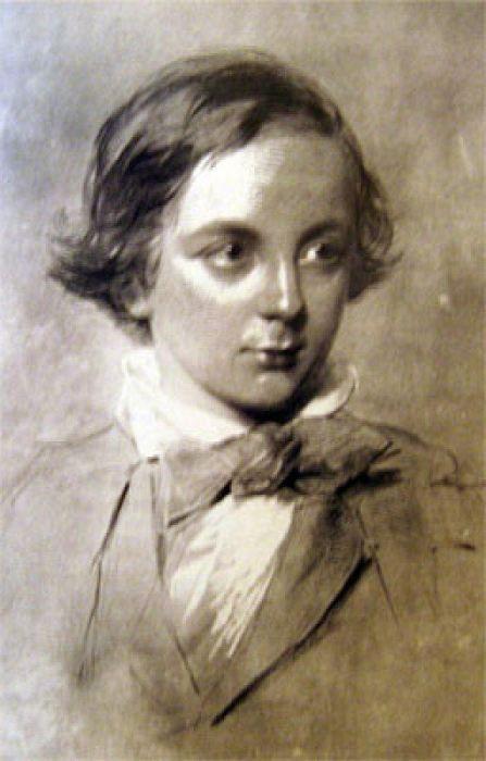 Портрет Чарльза Диккенса в детстве