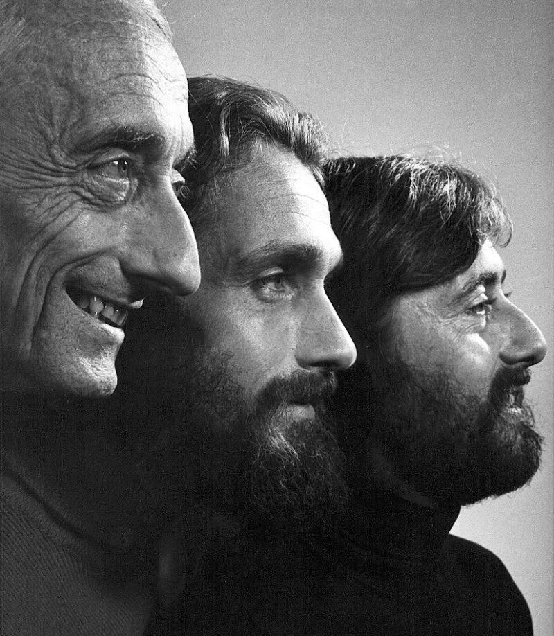 Жак-Ив Кусто с сыновьями