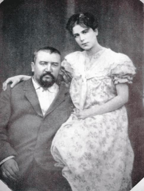 Александр Куприн с женой Елизаветой