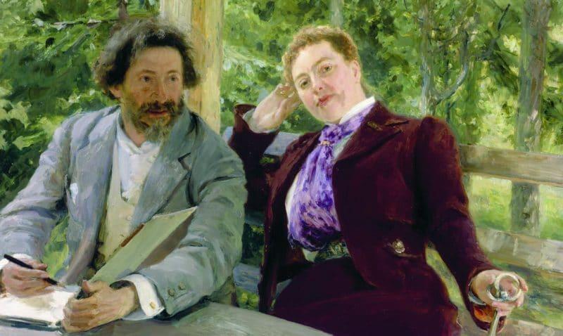 Илья Репин с женой Натальей