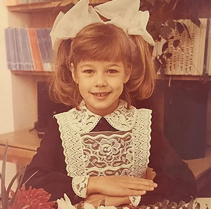 Екатерина Шпица в детстве