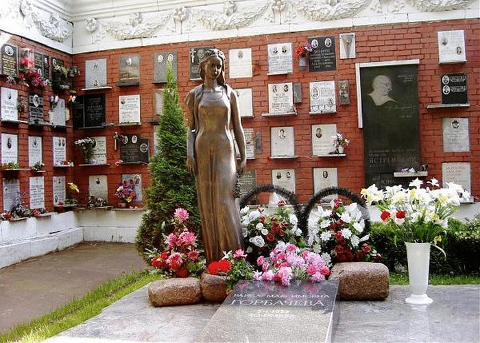 Могила и памятник Раисе Горбачевой