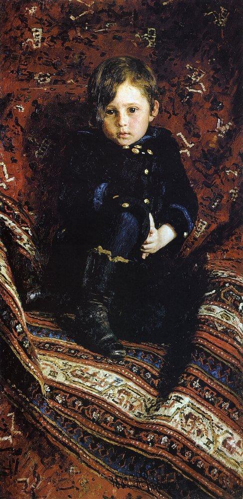 Портрет Репина в детстве