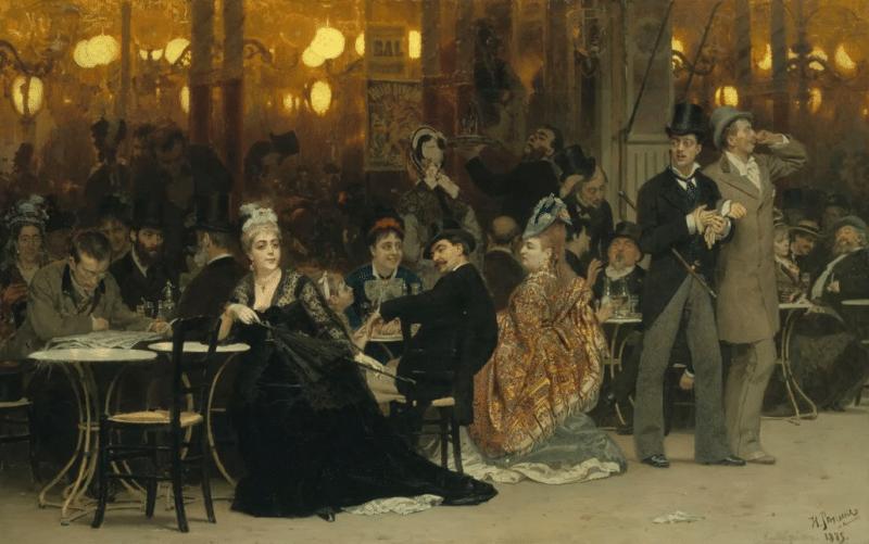 Картина Репина «Парижское кафе»
