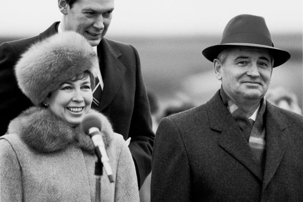 Раиса Горбачева с мужем Михаилом Горбачевым