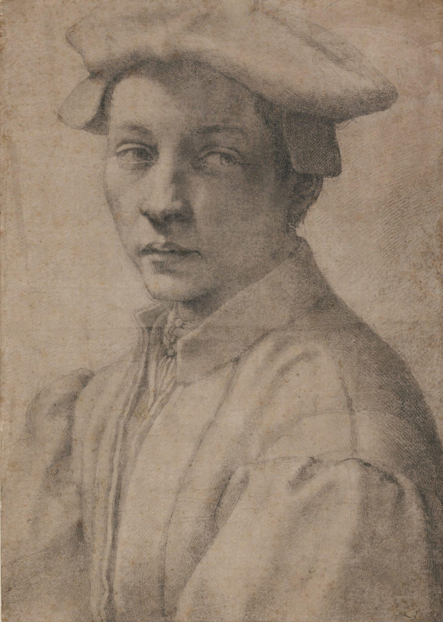 Портрет Микеланджело в молодости