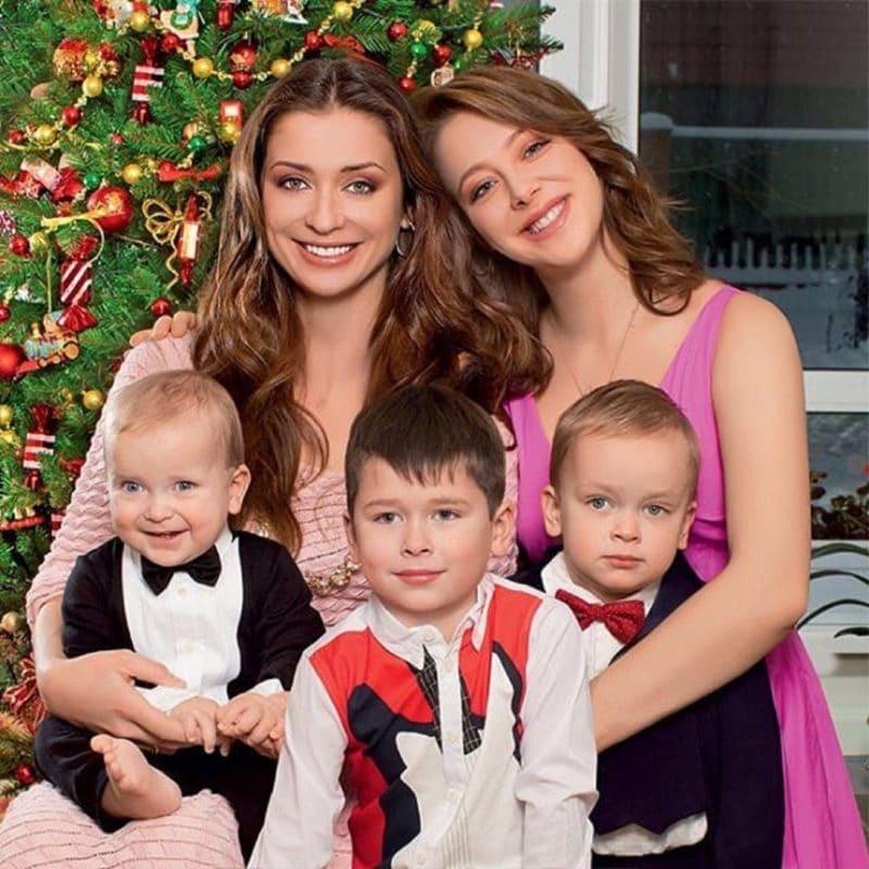 Мария Ситтель с детьми