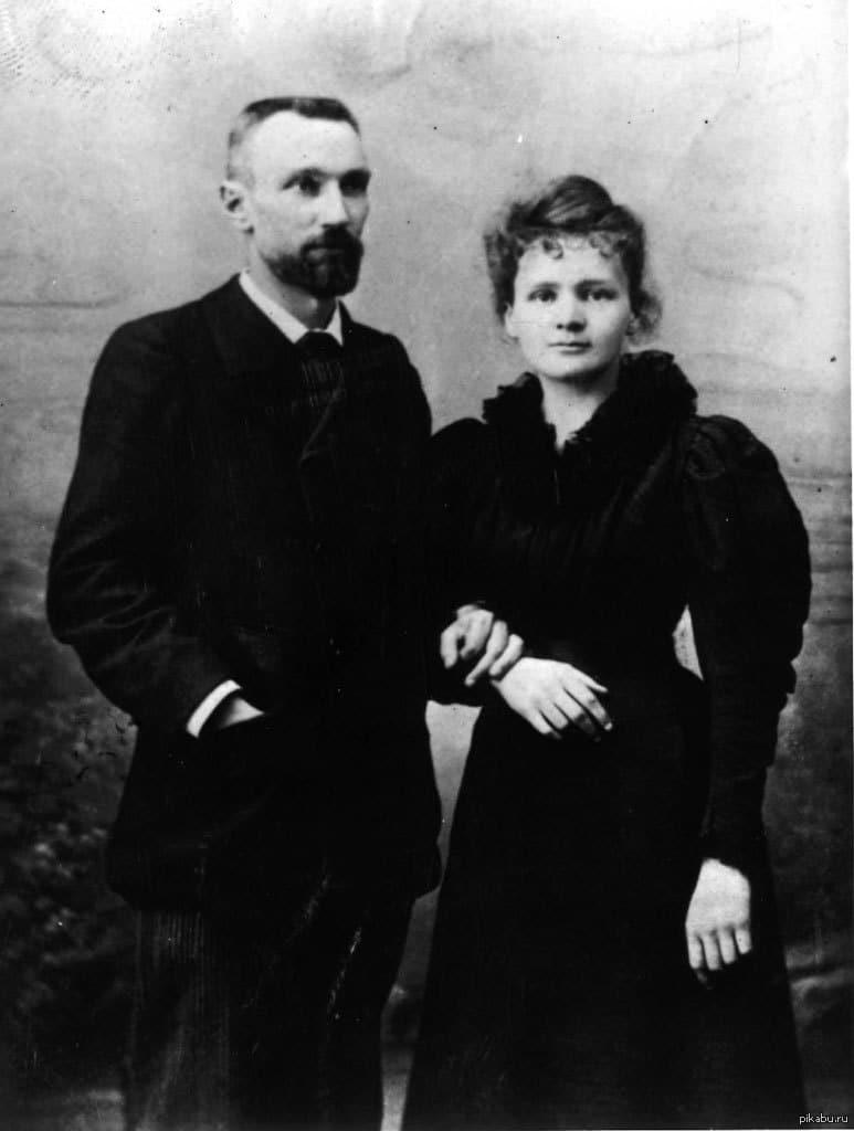 Мария Кюри с мужем Пьером
