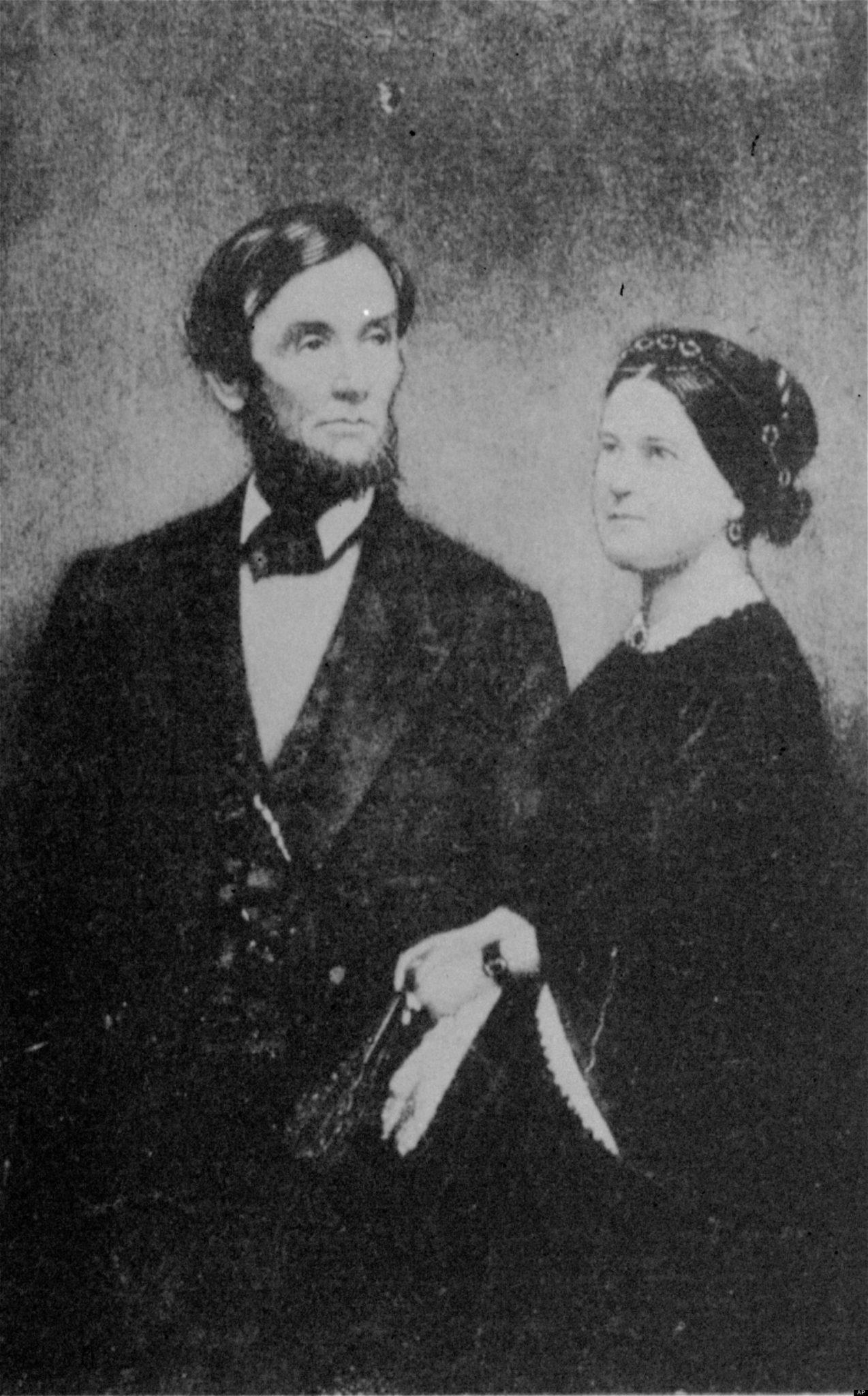 Авраам Линкольн с женой Мэри Тодд