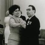 Галина Брежнева с отцом Леонидом Брежневым