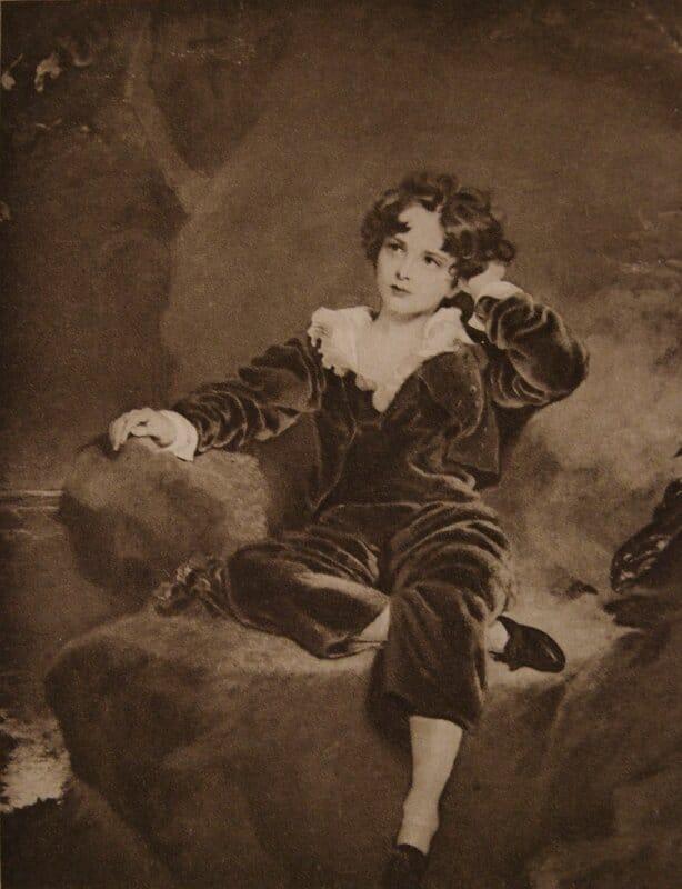 Портрет Джорджа Байрона в детстве