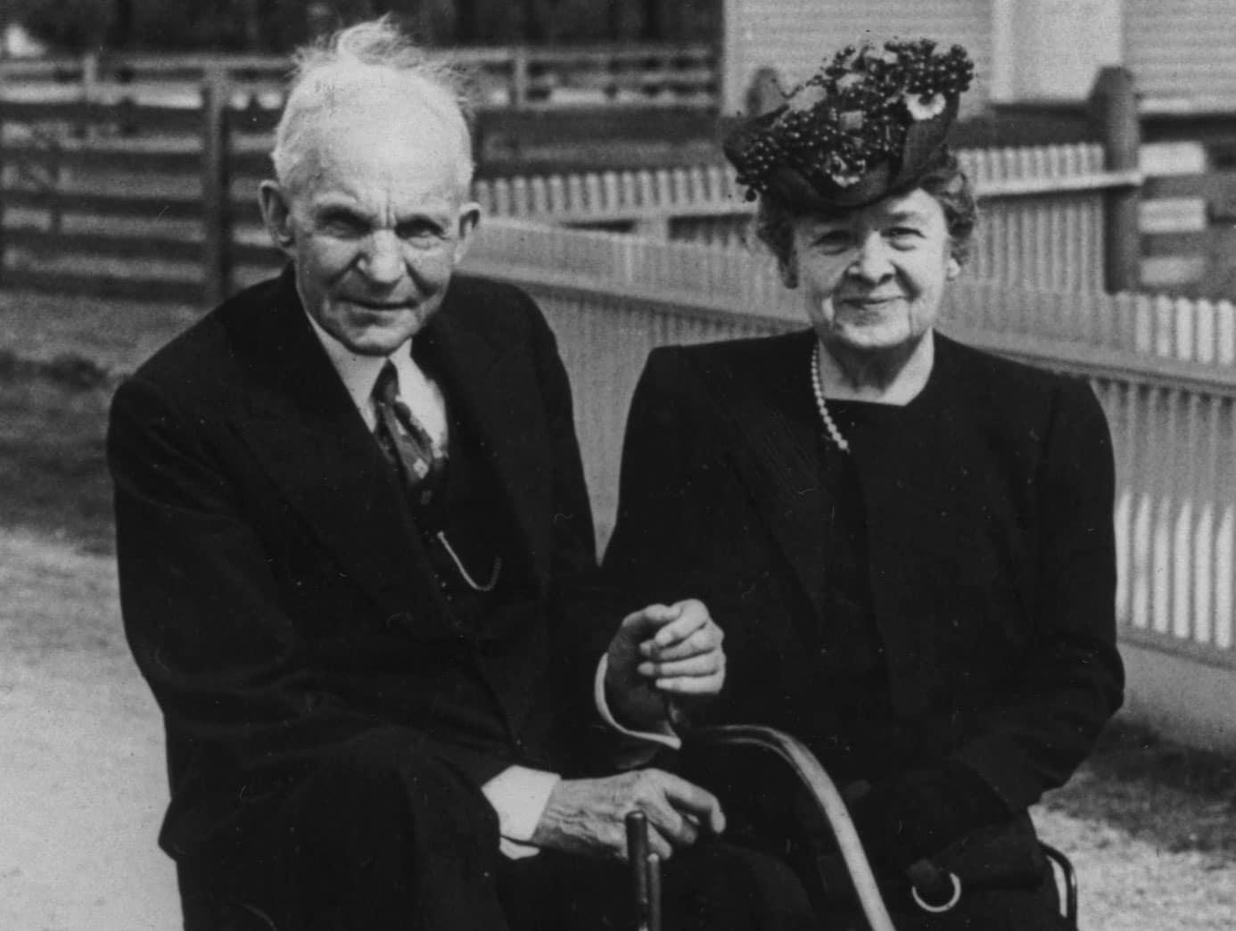 Генри Форд с Кларой Брайан