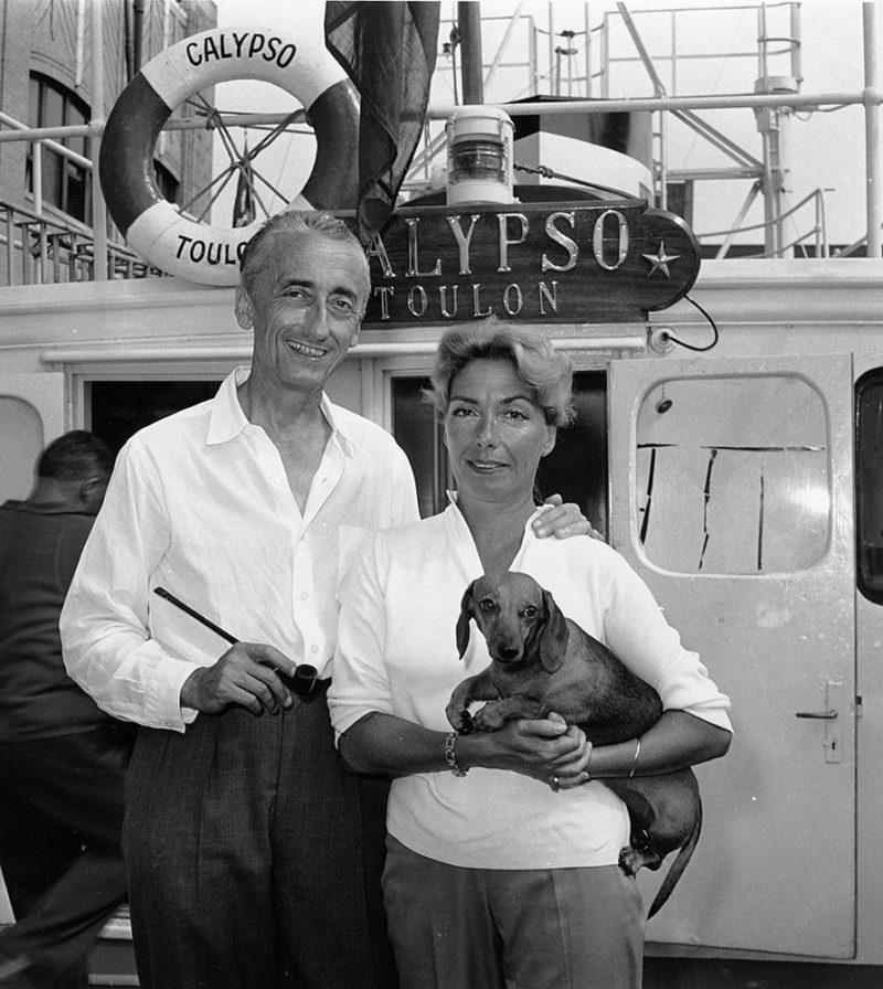 Жак-Ив Кусто с женой