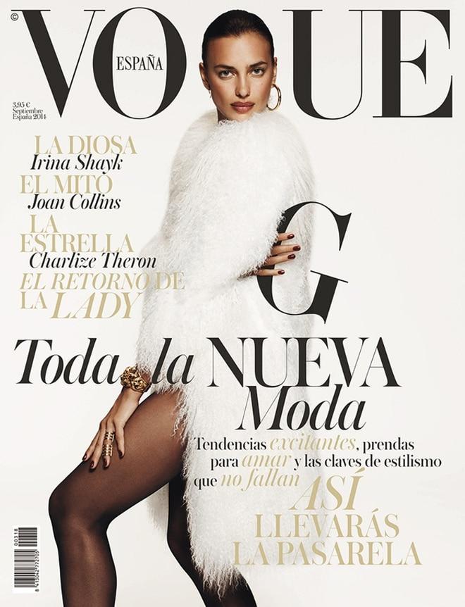 Ирина Шейк на обложке журнала Vogue