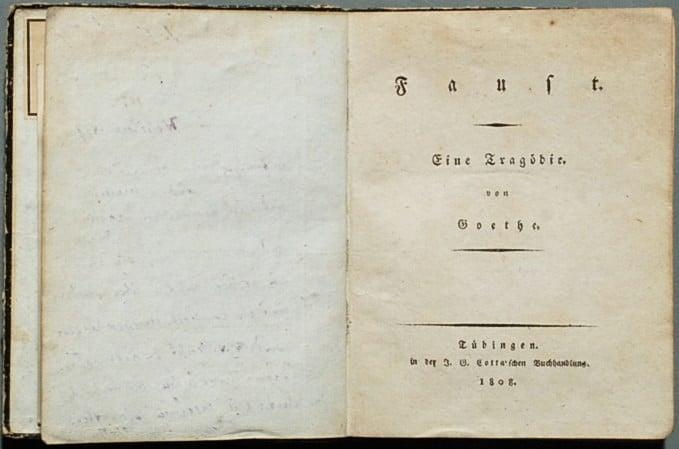 Первое издание Фауста в 1808 году