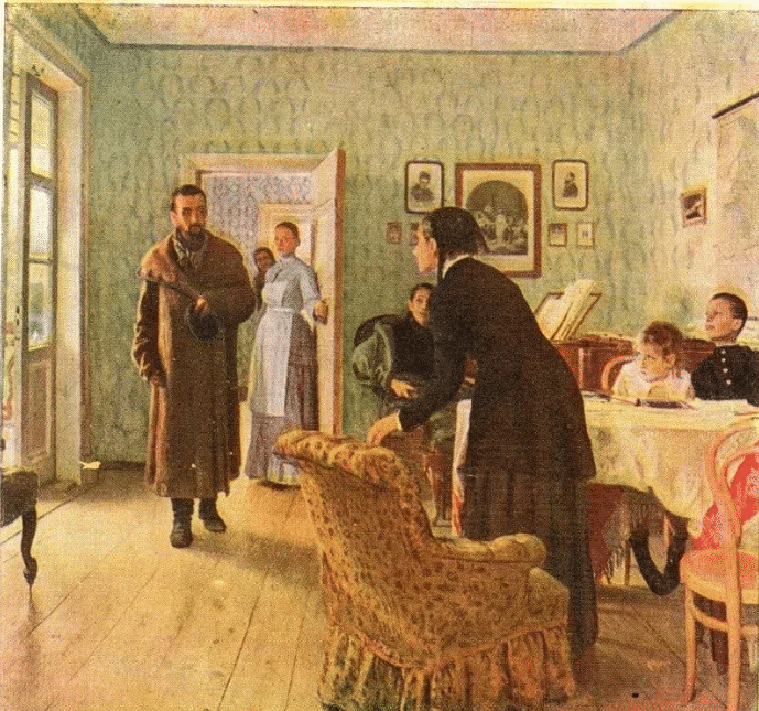 Картина Ильи Репина «Не ждали»