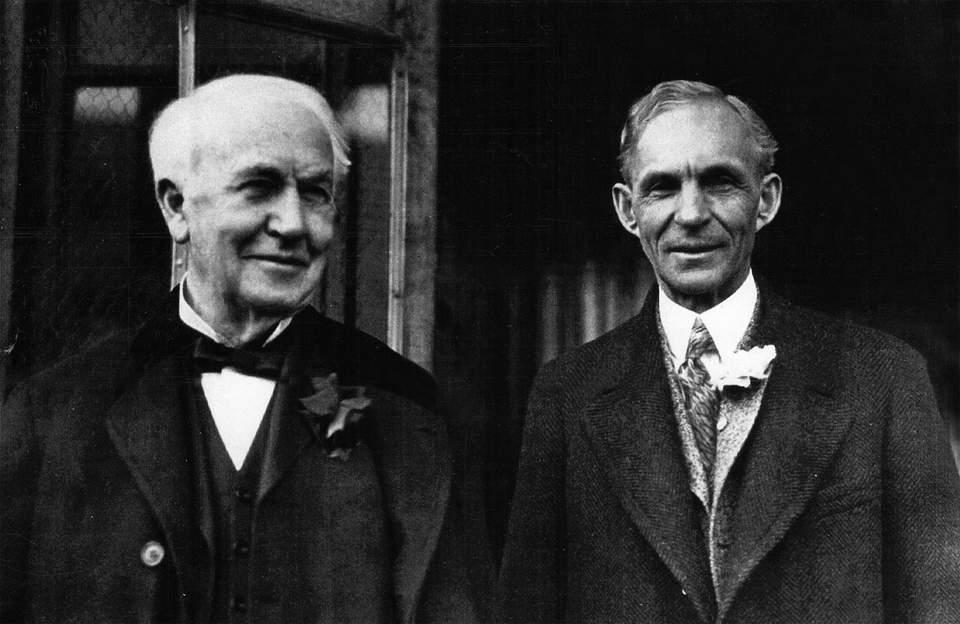 Генри Форд с Томасом Эдисоном
