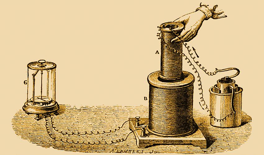 Опыт Фарадея электромагнитная индукция