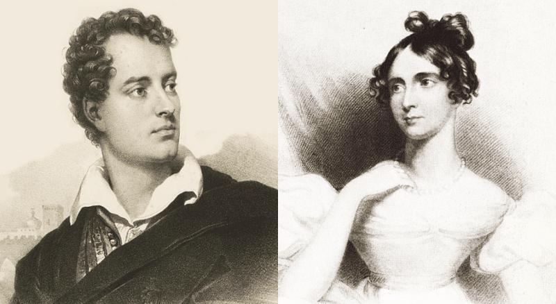 Джордж Байрон и его жена Анна